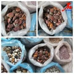 Red Color Pebble Stone for