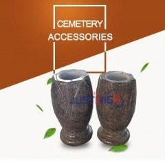 China wholesale vase gravestone in